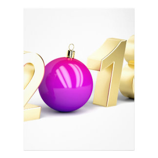 Number 2018 with Christmas ball Letterhead