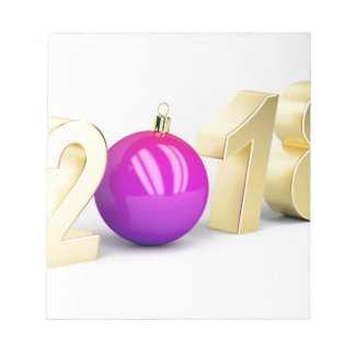 Number 2018 with Christmas ball Notepad