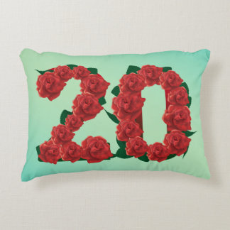 Number 20 20th birthday or anniversary Pillow