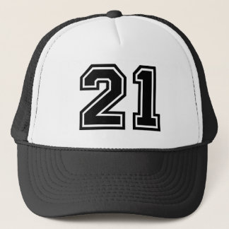 Number 21 Classic Trucker Hat