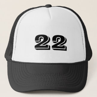 Number 22 trucker hat