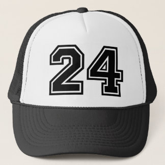 Number 24 Classic Trucker Hat