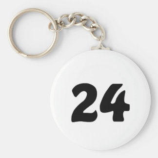 Number 24 keychain