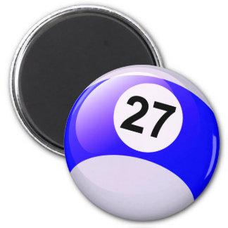 Number 27 Billiards Ball Magnet