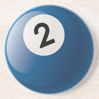 Number 2 Billiards Ball Coaster