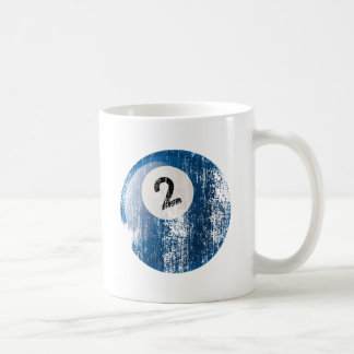 NUMBER 2 BILLIARDS BALL - ERODED AND AGED STYLE COFFEE MUG