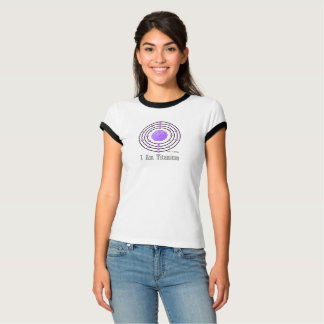 Number 2 Titanium Atom Science is for Girls T-Shirt