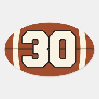 Number 30 Football Sticker