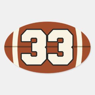 Number 33 Football Sticker