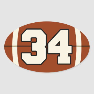 Number 34 Football Sticker