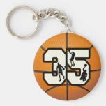 Number 35 Basketball Key Chains