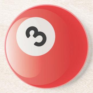 Number 3 Billiards Ball Coaster