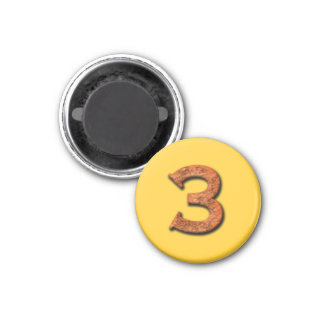 Number 3 Teaching or Memory Aid Magnet