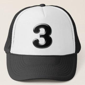 """Number """"3"""" trucker hat"""