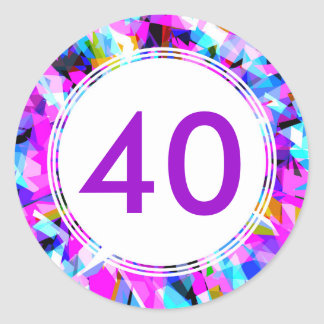 Number 40 - Round Sticker