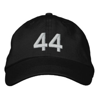 Number 44 embroidered hat