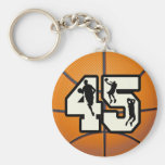 Number 45 Basketball Key Chains