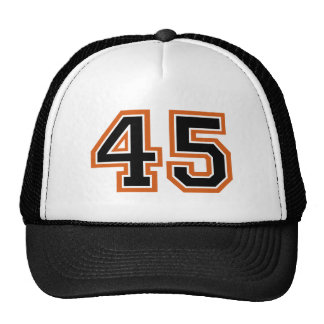 Number 45 trucker hat
