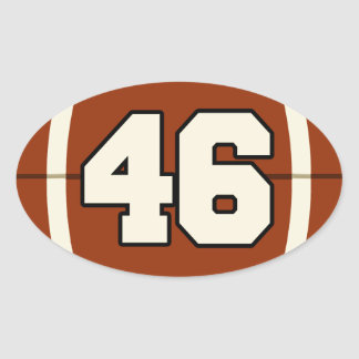 Number 46 Football Sticker