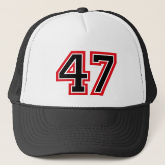 "Number ""47"" trucker hat"