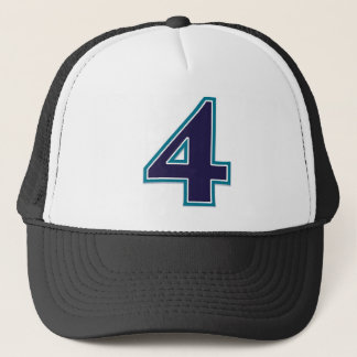 Number 4 Classic Trucker Hat