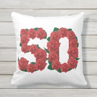 Number 50  50th birthday Outdoor Throw Pillow
