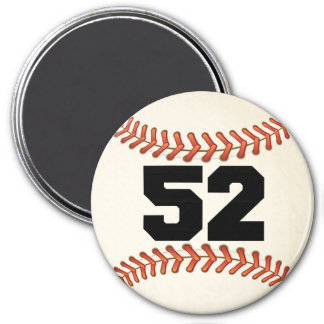 Number 52 Baseball Magnet