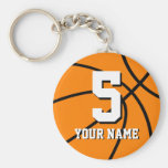 Number 5 basketball keychains | Personalizable