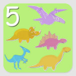Number 5 Five Dinosaurs Counting