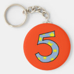 Number 5 key chains