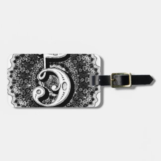 Number 5 luggage tag