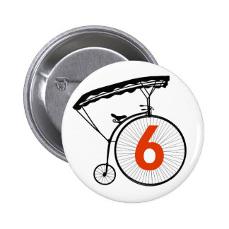 Number 6 Badge - The Prisoner 2 Inch Round Button