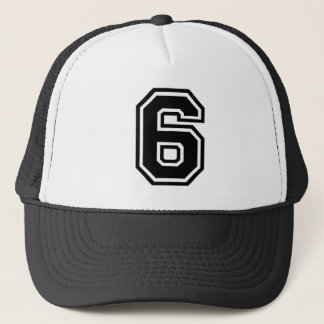 Number 6 Classic Trucker Hat