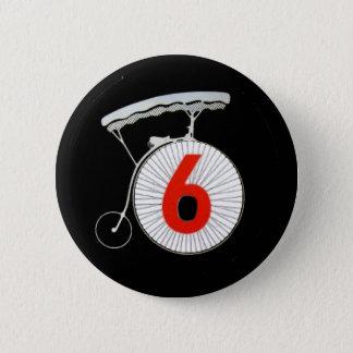 Number 6: The Prisoner 2 Inch Round Button