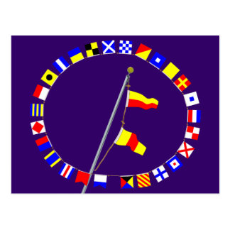 Number 70 Nautical Signal Flag Hoist Postcard