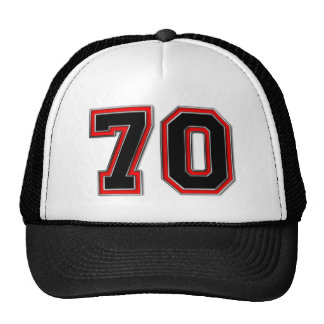 Number 70 trucker hat
