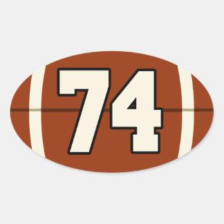 Number 74 Football Sticker