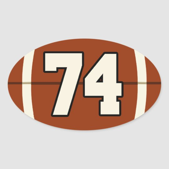 Number 74 Football Sticker