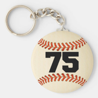 Number 75 Baseball Keychain