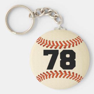 Number 78 Baseball Basic Round Button Keychain