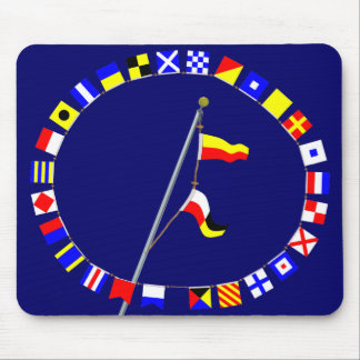 Number 79 Nautical Signal Flag Hoist Mouse Pad