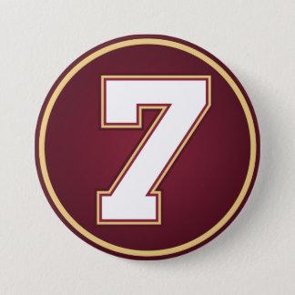 Number 7 3 inch round button