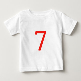 Number 7 baby T-Shirt