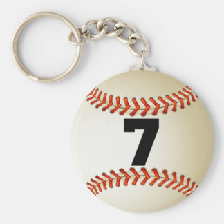 Number 7 Baseball Keychain