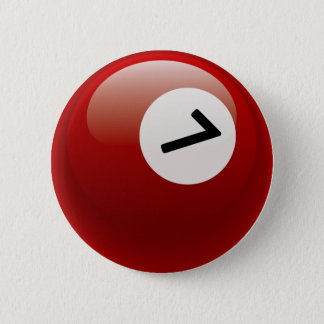 NUMBER 7 BILLIARDS BALL 2 INCH ROUND BUTTON