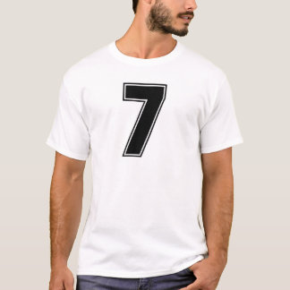 Number 7 frontside print T-Shirt