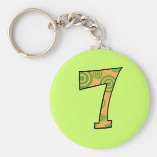 Number 7 keychain