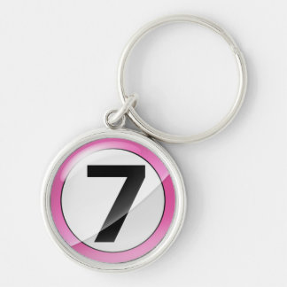 Number 7 pink premium Key Chain