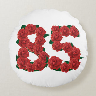 """Number 85 Round Throw Pillow (16"""")"""