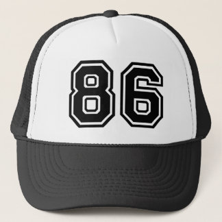 Number 86 Classic Trucker Hat